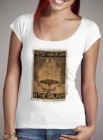 Женская футболка с глубоким вырезом Fastest Hunk of Junk