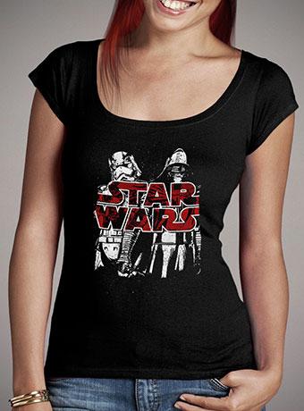 Женская футболка с глубоким вырезом Kylo Ren and Phasma