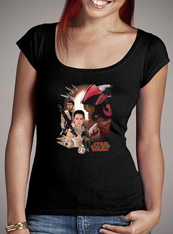 Женская футболка с глубоким вырезом Resistance