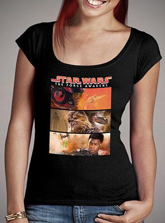 Женская футболка с глубоким вырезом Resistance Framed