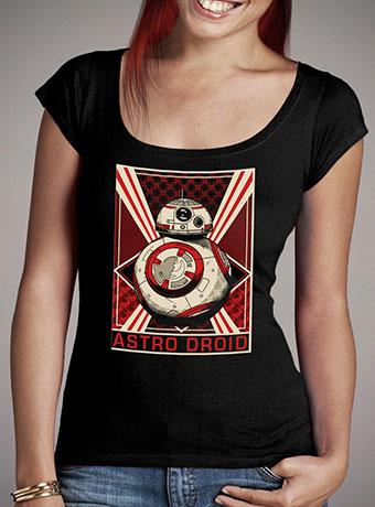 Женская футболка с глубоким вырезом Rise of BB-8