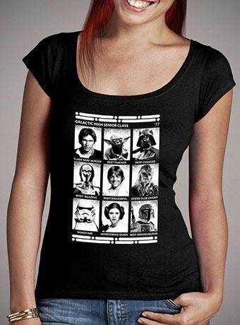 Женская футболка с глубоким вырезом Star Wars Galactic High