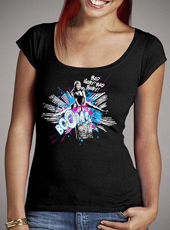 Женская футболка с глубоким вырезом Girl Power