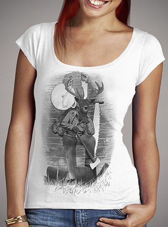 Женская футболка с глубоким вырезом In the Woods