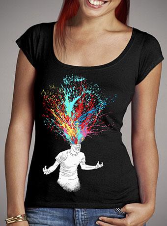 Женская футболка с глубоким вырезом Scream Redux