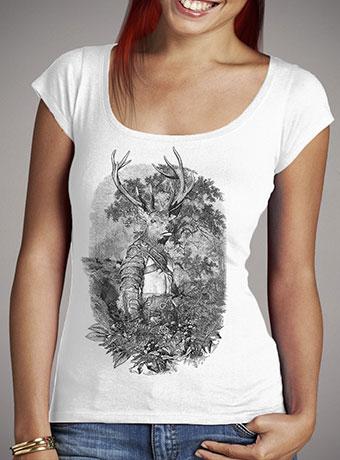 Женская футболка с глубоким вырезом Stagmanok