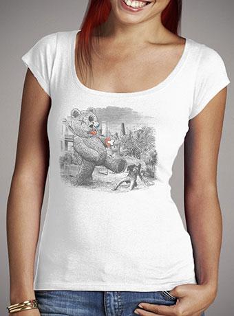 Женская футболка с глубоким вырезом Teddy's Back!
