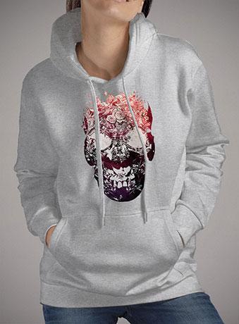 Женская толстовка Floral Skull