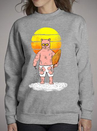 Женский свитшот Polar Bear Goes Summer