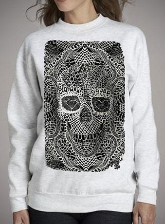 Женский свитшот Lace Skull