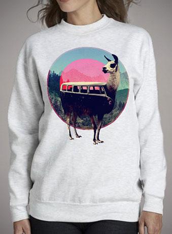 Женский свитшот Llama