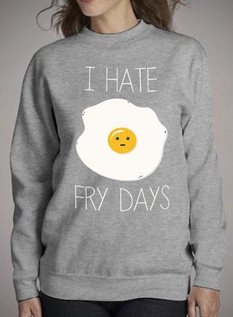 Женский свитшот I Hate Fridays