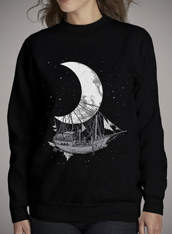 Женский свитшот Moon Ship
