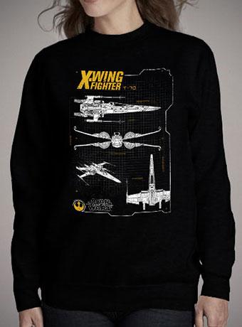 Женский свитшот Resistance X-Wing Schematic