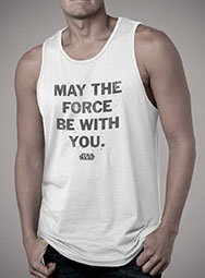 Мужская майка May the Force Be With You Distressed