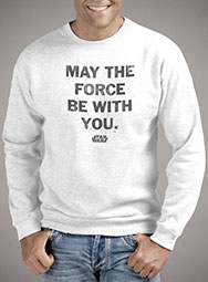Мужской свитшот May the Force Be With You Distressed