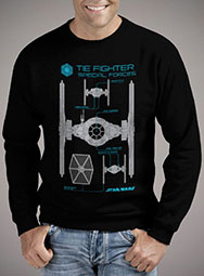Мужской свитшот Special Forces Tie Fighter