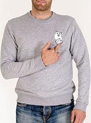 Мужской свитшот с котом в кармане FuckOff-Cat