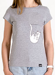 Женская футболка с падающим котом Fallin FuckOff-Cat