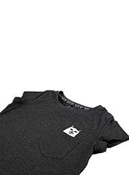 Женская футболка с котом в кармане FuckOff-Cat тёмная
