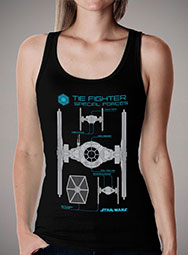 Женская майка Special Forces Tie Fighter